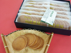 長塚節も愛した松皮煎餅